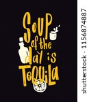 tequila. typography poster.... | Shutterstock .eps vector #1156874887