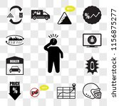 set of 13 transparent icons... | Shutterstock .eps vector #1156875277