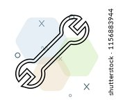 wrench icon vector can be used... | Shutterstock .eps vector #1156883944