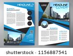business brochure. flyer design.... | Shutterstock .eps vector #1156887541