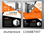 business brochure. flyer design.... | Shutterstock .eps vector #1156887547