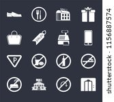 set of 16 icons such as lift ...