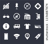 set of 16 icons such as price ...