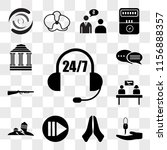 set of 13 transparent icons... | Shutterstock .eps vector #1156888357