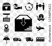 set of 13 transparent icons... | Shutterstock .eps vector #1156891621