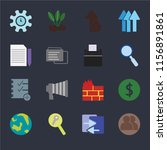 set of 16 icons such as user ... | Shutterstock .eps vector #1156891861