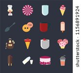 set of 16 icons such as frappe  ...