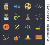 set of 16 icons such as adjust  ...