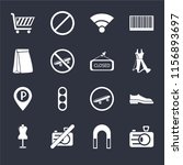 set of 16 icons such as camera  ...
