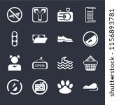 set of 16 icons such as rats ...
