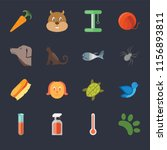 set of 16 icons such as animal  ...