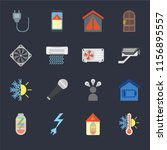 set of 16 icons such as... | Shutterstock .eps vector #1156895557