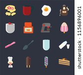 set of 16 icons such as cake ...