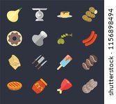 set of 16 icons such as cookies ...