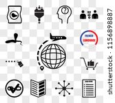 set of 13 transparent icons... | Shutterstock .eps vector #1156898887