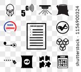 set of 13 transparent icons... | Shutterstock .eps vector #1156900324