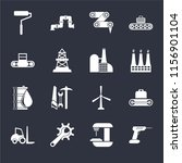 set of 16 icons such as drill ... | Shutterstock .eps vector #1156901104