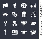 set of 16 icons such as drummer ...