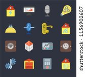 set of 16 icons such as home ...