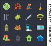 set of 16 icons such as pet... | Shutterstock .eps vector #1156902721