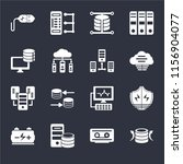 set of 16 icons such as back up ...