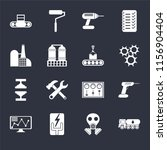 set of 16 icons such as tank...