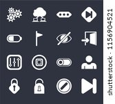 set of 16 icons such as next ...