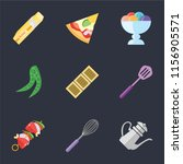set of 9 simple icons such as... | Shutterstock .eps vector #1156905571