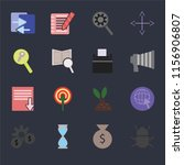 set of 16 icons such as bug ... | Shutterstock .eps vector #1156906807