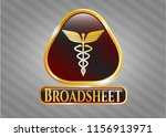 golden badge with caduceus...   Shutterstock .eps vector #1156913971