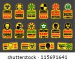 zombie apocalypse signs   Shutterstock .eps vector #115691641