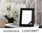 funeral photo frame with black... | Shutterstock . vector #1156918897