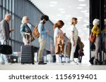 side view of multiracial people ... | Shutterstock . vector #1156919401