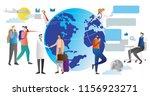 globalisation vector... | Shutterstock .eps vector #1156923271