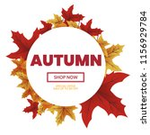 autumn sale text typography... | Shutterstock .eps vector #1156929784