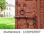 fragment of wooden doors with... | Shutterstock . vector #1156933507