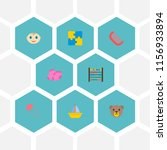 set of child icons flat style... | Shutterstock .eps vector #1156933894