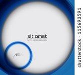 blue vector abstract circle... | Shutterstock .eps vector #115693591