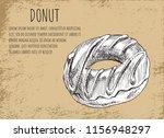 donut poster with glazed... | Shutterstock .eps vector #1156948297