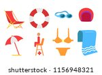 equipment for beach and...   Shutterstock .eps vector #1156948321