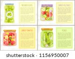 preserved green olives  canned... | Shutterstock .eps vector #1156950007