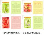 pickles in marinate  canned... | Shutterstock .eps vector #1156950031