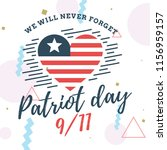 patriot day. 11th of september. ... | Shutterstock .eps vector #1156959157