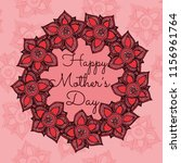 mother's day card template with ... | Shutterstock .eps vector #1156961764
