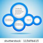 abstract web design bubble ... | Shutterstock .eps vector #115696615