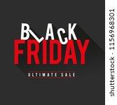 black friday sale banner.    Shutterstock .eps vector #1156968301