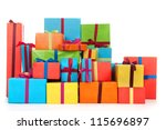 Many Colorful Presents With...