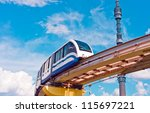 cityscape with monorail train... | Shutterstock . vector #115697221