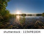 beautiful view at a sunset... | Shutterstock . vector #1156981834