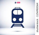 train icon  stock vector... | Shutterstock .eps vector #1156983364